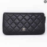 Classic Long Zipped Wallet Black