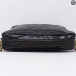 Black CC Diamond Quilted Camera Bag