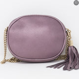 Soho Mini Chain Bag Metallic Purple Leather