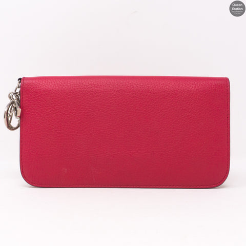 Diorissimo Zip Around Wallet Pink Leather