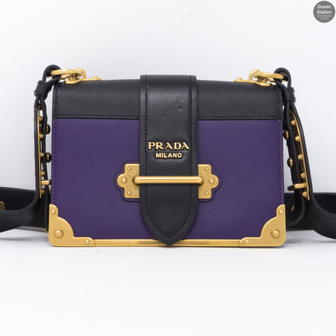 Cahier Purple Leather Bag