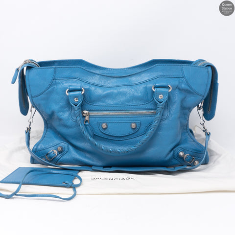 City Light Blue Leather