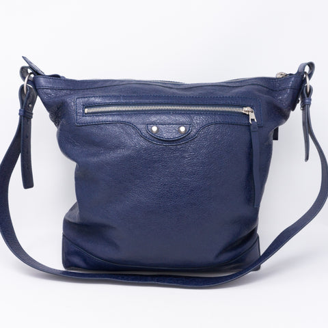 Messenger Bag Blue Leather