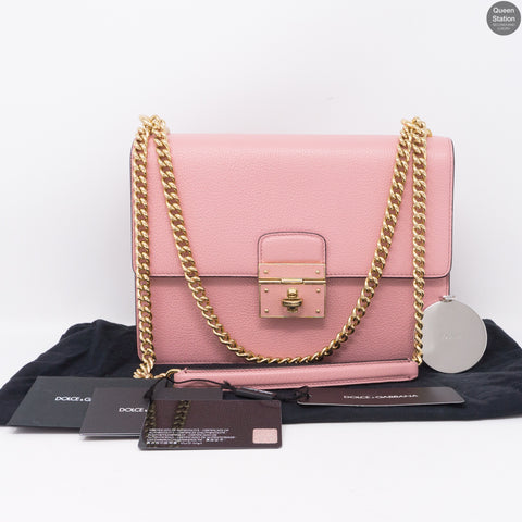 Rosalia Pink Leather Shoulder Bag