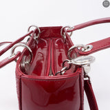 Lady Dior Medium Cherry Red Patent Leather