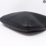Vitello Daino Black Leather Hobo Bag