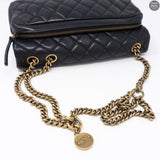 CC Crown Black Small Flap Bag