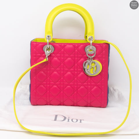 Lady Dior Medium Tri Color Leather