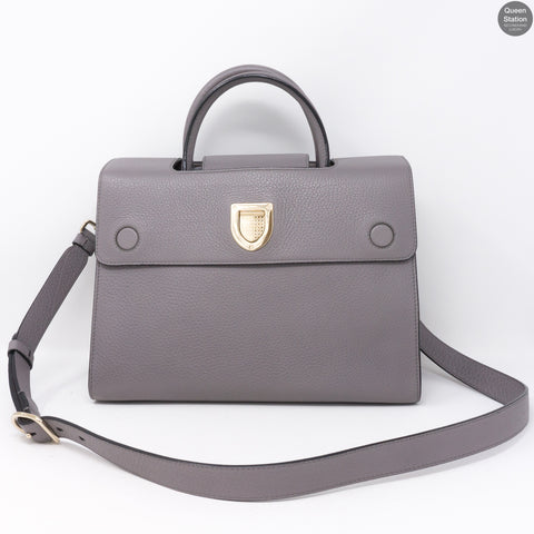 Diorever Grey Leather