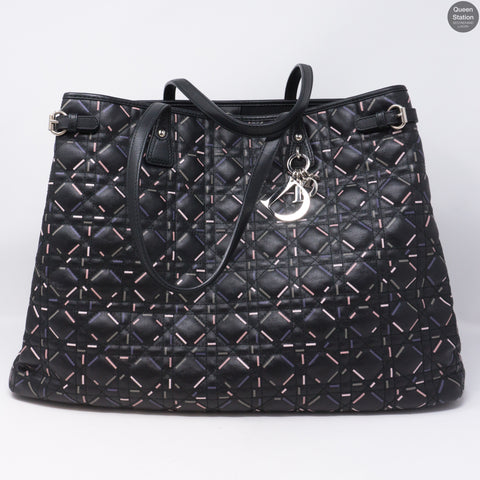 Large Panarea Tote Black Leather
