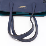 Swing Navy Blue Leather Handbag
