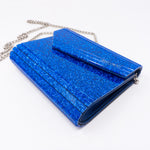 Candy Blue Glitter Acrylic Clutch Bag