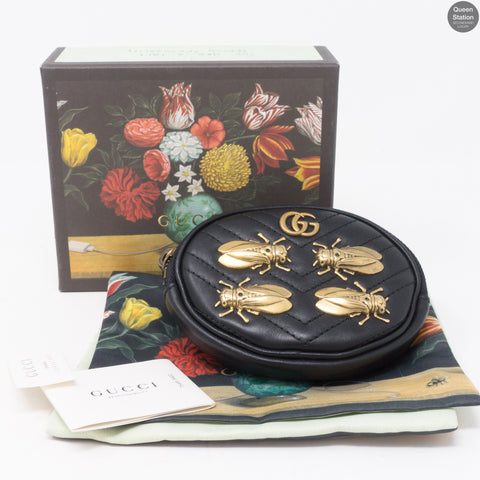 GG Marmont Animal Studs Wrist Pouch