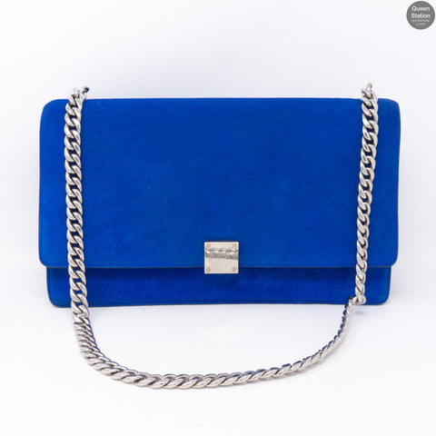 Medium Case Blue Suede