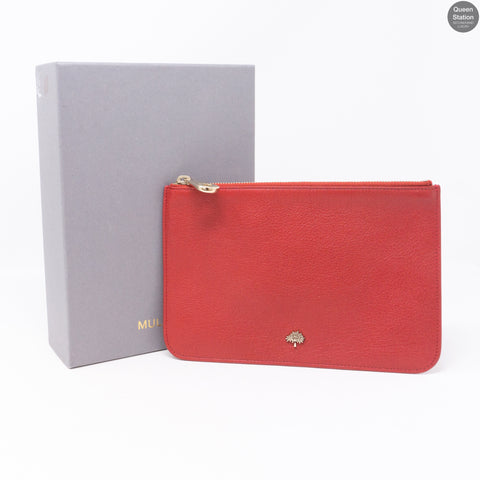 Red Zip Top Pouch