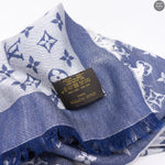 Blue Monogram Denim Shawl