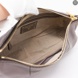Grey Leather Shoulder Bag