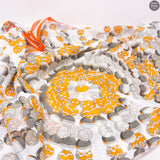 White Orange Cotton Beach Pareo