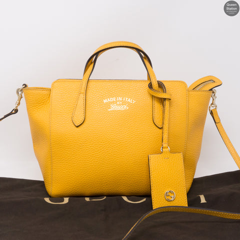 Swing Mini Yellow Leather Bag