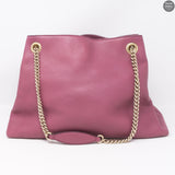 Soho Tassel Chain Purple Leather Bag