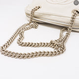 Soho Double Chain White Leather