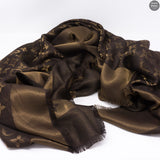 Brown Monogram Shine Shawl