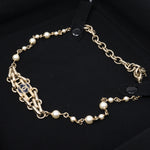 Pearl Chain Choker Necklace