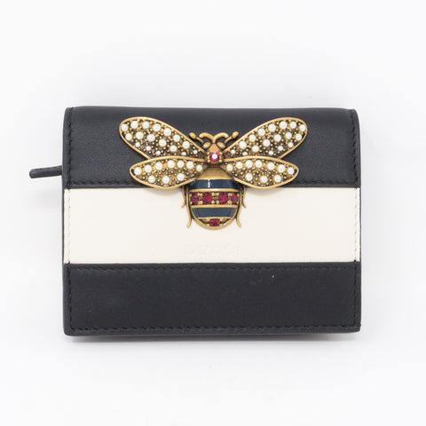 Queen Margaret Wallet Black Leather