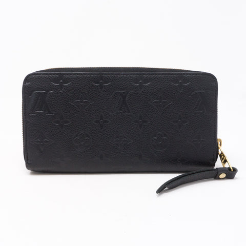 Zippy Wallet Black Monogram Empreinte