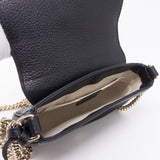 Soho Small Chain Bag Black Leather