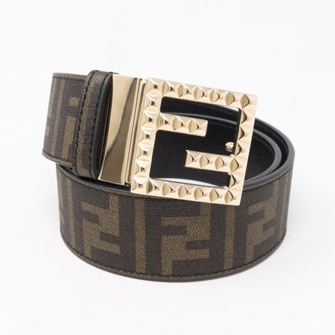 Zucca Canvas and Leather Reversible Belt