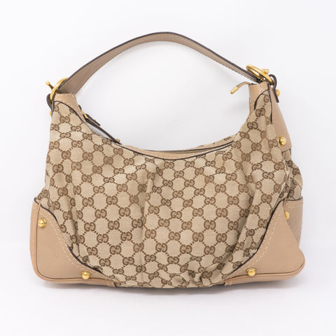 Beige Medium Jockey Hobo