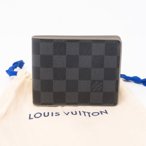Multiple Wallet Damier Graphite