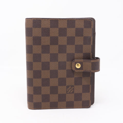 Medium Ring Agenda Cover Damier Ebene
