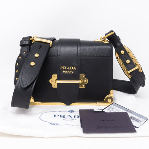 Cahier Black Leather Bag