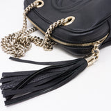 Soho Double Chain Black Leather