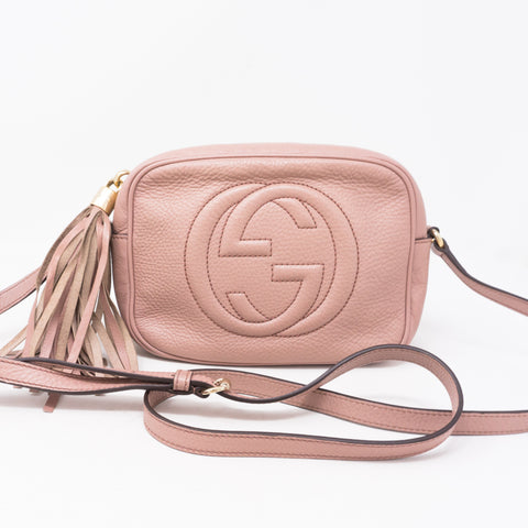 Disco Soho Light Pink Leather Bag