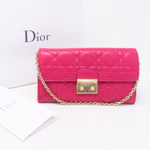 Miss Dior Wallet on Chain Pink