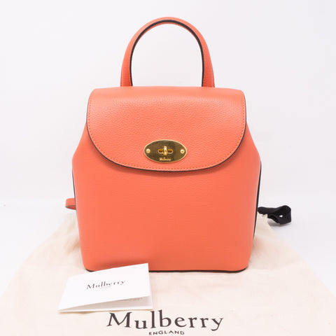 Mini Bayswater Backpack Coral Rose Leather