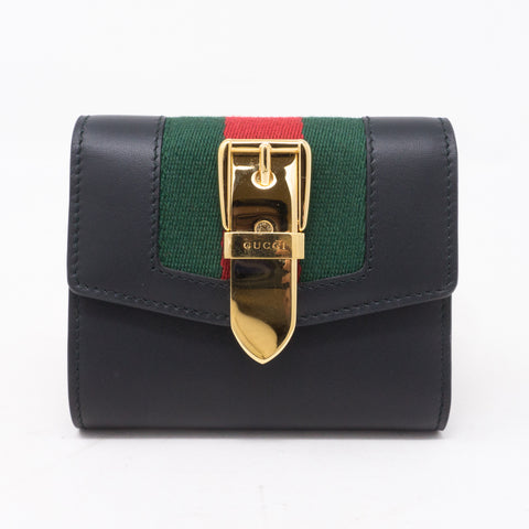 Sylvie Wallet Black Leather