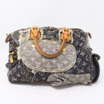 Patchwork Speedy Gray Denim Monogram