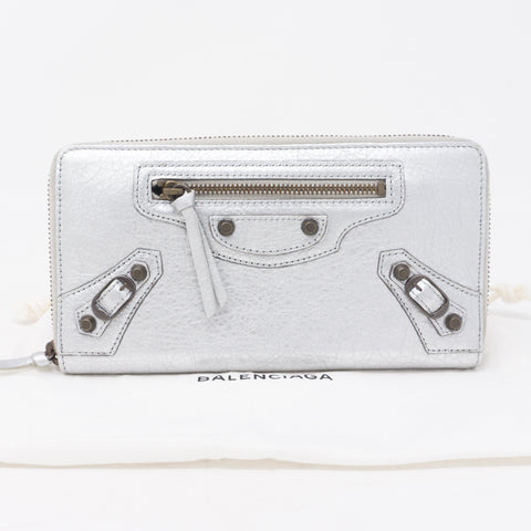 Classic Continental Zip Around Wallet Aluminum