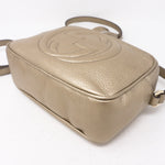 Disco Soho Champagne Gold Leather Bag