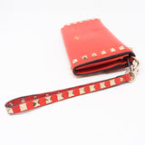 Rockstud Red Leather Wallet