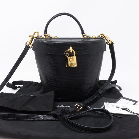 Bucket Bag Black Leather