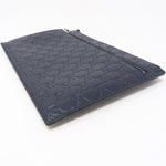 Portfolio Pouch Navy Blue Leather