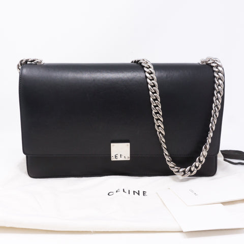Medium Case Black Leather