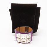 Collier de Chien Silver Purple Bracelet