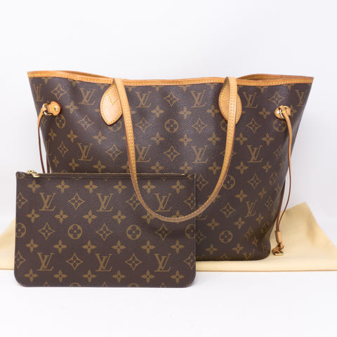 Neverfull MM Monogram Pivoine with Pochette