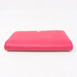 Classic Long Flap Wallet Fuchsia Pink